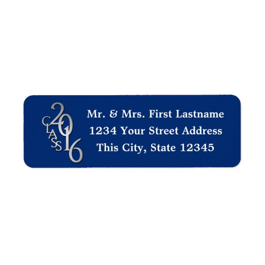 Class of 2016 Blue Graduation Return Address Label