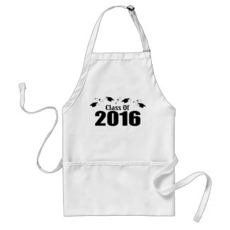 Class Of 2016 Caps And Diplomas (Black) Standard Apron