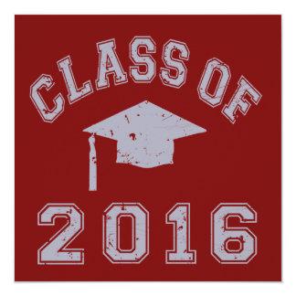 Class of 2016 Graduation 13 Cm X 13 Cm Square Invitation Card