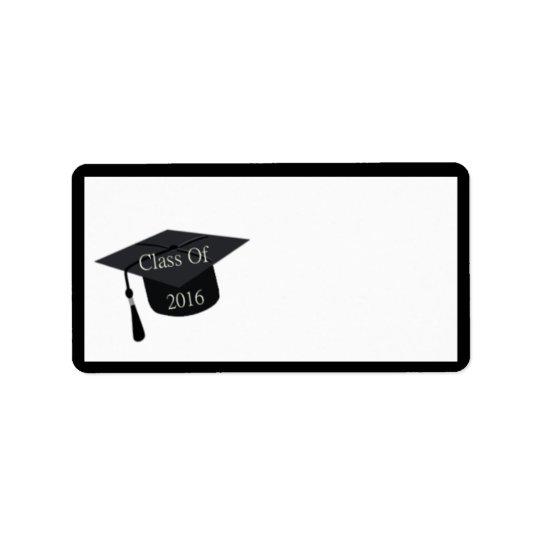 Class Of 2016 Graduation Cap Label