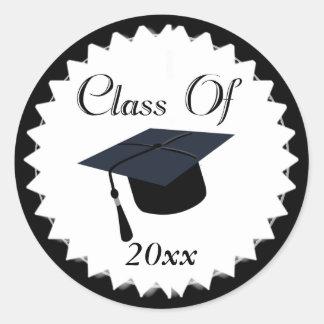 Class Of 2016 Graduation Cap Round Sticker