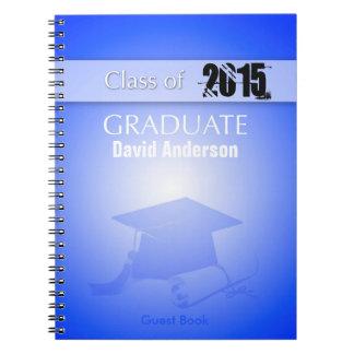 Class of 2016  Graduation Guest Book in Blue Note Books