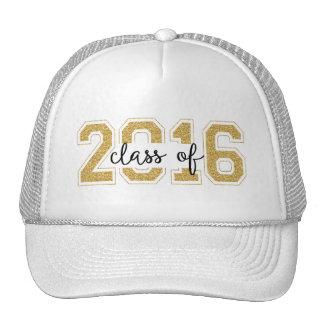 Class Of 2016 Modern Glitter text Design Cap