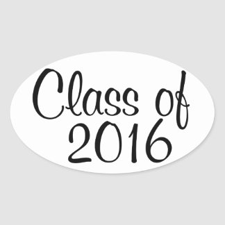 Class of 2016 oval sticker