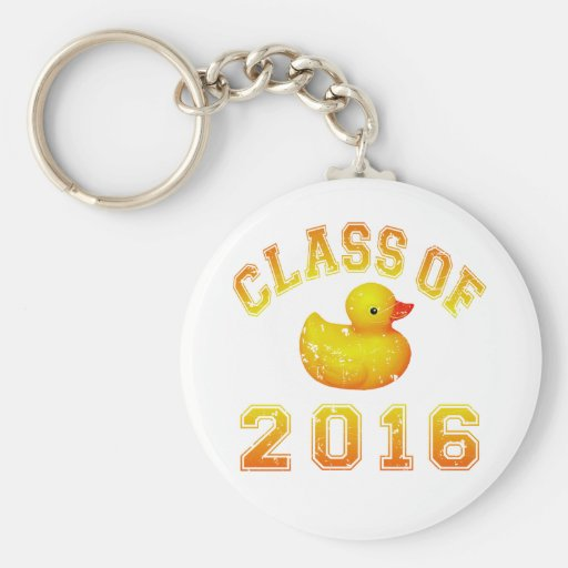 Class Of 2016 Rubber Duckie - Yellow/Red 2 Keychain