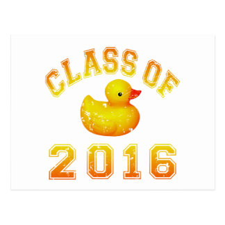 Class Of 2016 Rubber Duckie - Yellow Red 2 Post Card