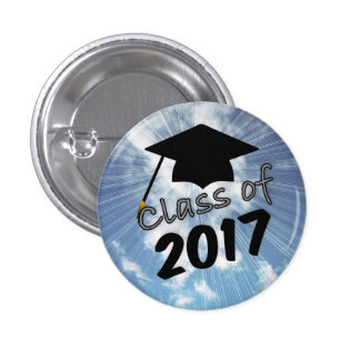 Class of 2017 And A Graduation Cap On Blue Sky Pin