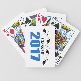 Class Of 2017 Caps And Diplomas (Blue) Bicycle Playing Cards