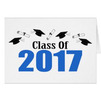 Class Of 2017 Caps And Diplomas (Blue) Card