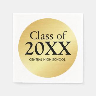 Class of 2017 Gold Graduation Paper Napkin