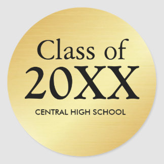 Class of 2017 Gold Graduation Sticker