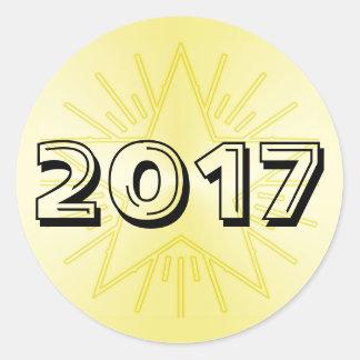 Class of 2017 Gold Star Round Sticker by Janz