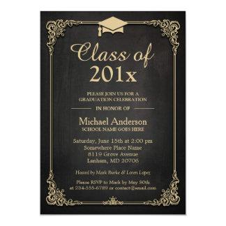Class of 2017 Grad Cap Elegant Classy Graduation 13 Cm X 18 Cm Invitation Card