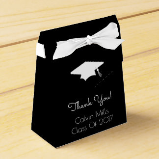 Class Of 2017 Graduation Favor Boxes (Black)