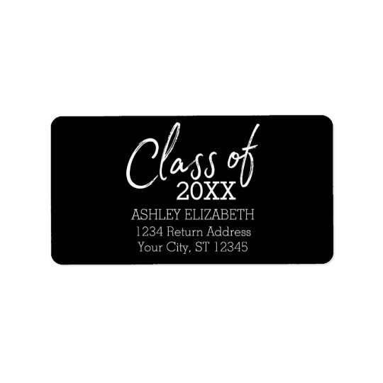 Class of 2017 Graduation Party Address Label