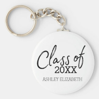 Class of 2017 Graduation Party Basic Round Button Key Ring