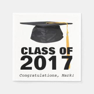 Class of 2017 Graduation Party Napkins Disposable Serviette