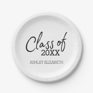 Class of 2017 Graduation Party Paper Plate