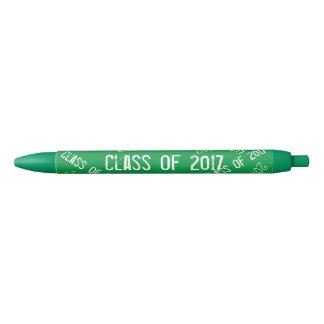 Class of 2017 Green White Black Ink Pen