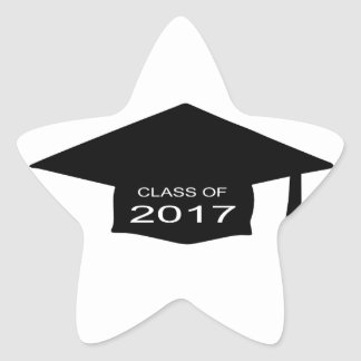 Class of 2017 Hat Star Sticker