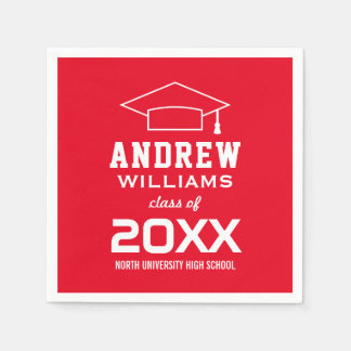 Class of 2017 Napkins | Custom Graduation Party Disposable Napkins
