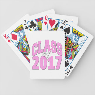 Class of 2017 pink bicycle playing cards