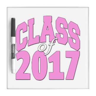 Class of 2017 pink Dry-Erase whiteboards