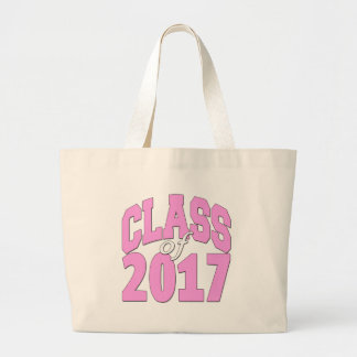 Class of 2017 pink large tote bag