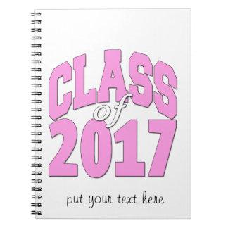 Class of 2017 pink spiral notebook