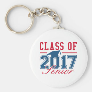 Class Of 2017 Senior Basic Round Button Key Ring