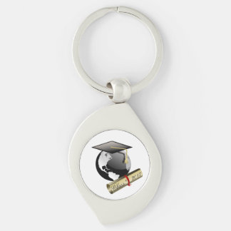 Class of 2017 Silver-Colored swirl key ring