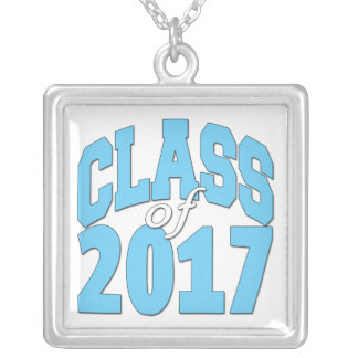 Class of 2017 silver plated necklace