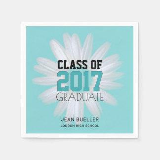 Class of 2017 Teal Daisy | Custom Graduation Party Disposable Serviette