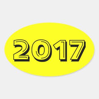 Class of 2017 Yellow Oval Sticker by Janz