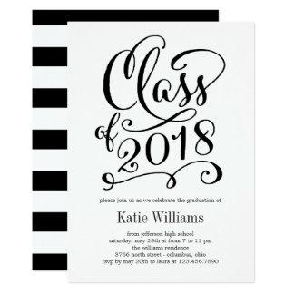 Class of 2018 Calligraphy Graduation Invitation