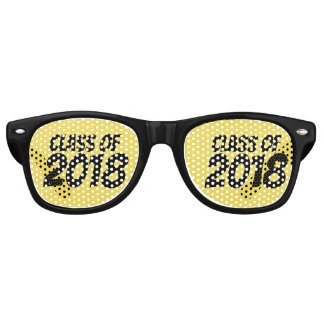 Class Of 2018 Caps (Yellow & Black) Retro Sunglasses