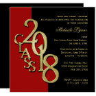 Class of 2018 Elegant Gold and Red Card
