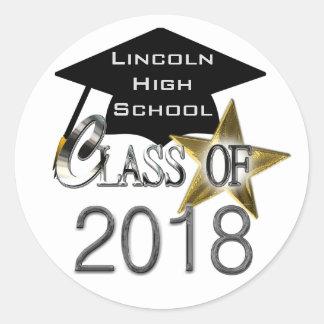 Class Of 2018 Graduation Seals Round Sticker