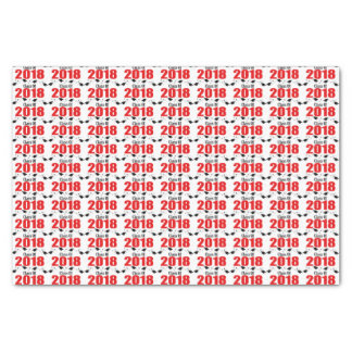 Class Of 2018 Graduation Tissue Paper (Red Caps)
