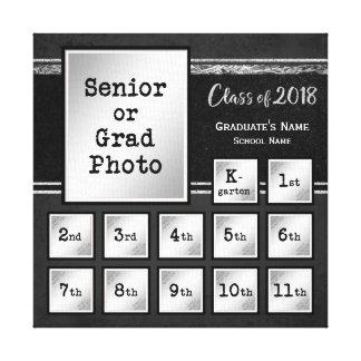 Class of 2018 K-12 Photo Keepsake Canvas Print