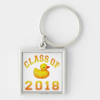 Class Of 2018 Rubber Duckie - Yellow/Red 2 Key Chains