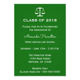 Class Of 2018 Scales Graduation Invite (Green)