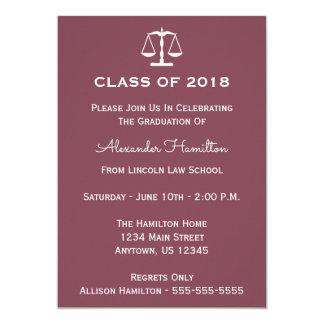 Class Of 2018 Scales Graduation Invite (Maroon)