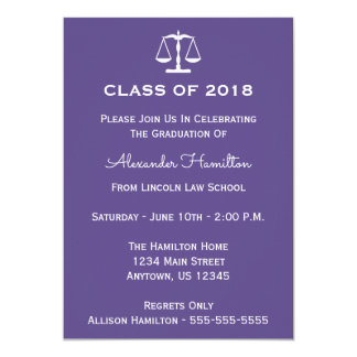 Class Of 2018 Scales Graduation (Ultra Violet) Card
