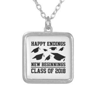Class Of 2018 Silver Plated Necklace
