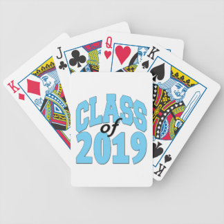 Class of 2019 blue bicycle playing cards