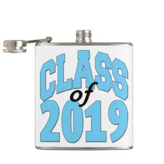 Class of 2019 blue hip flask