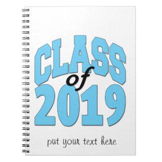 Class of 2019 blue notebooks