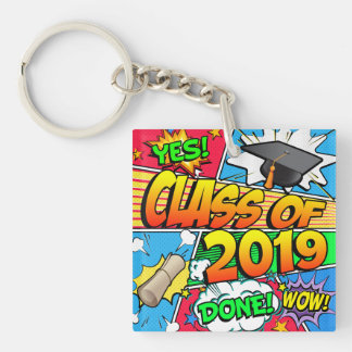 Class of 2019 Comic Book Key Ring