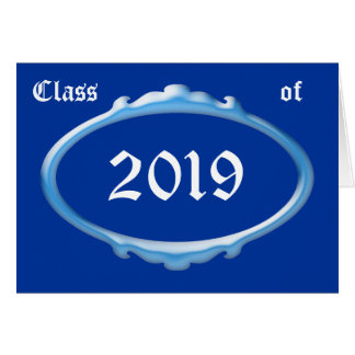 Class of 2019 Graduation Announcement Greeting Cards